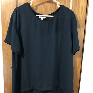 Black see through top , 14th&union, size small